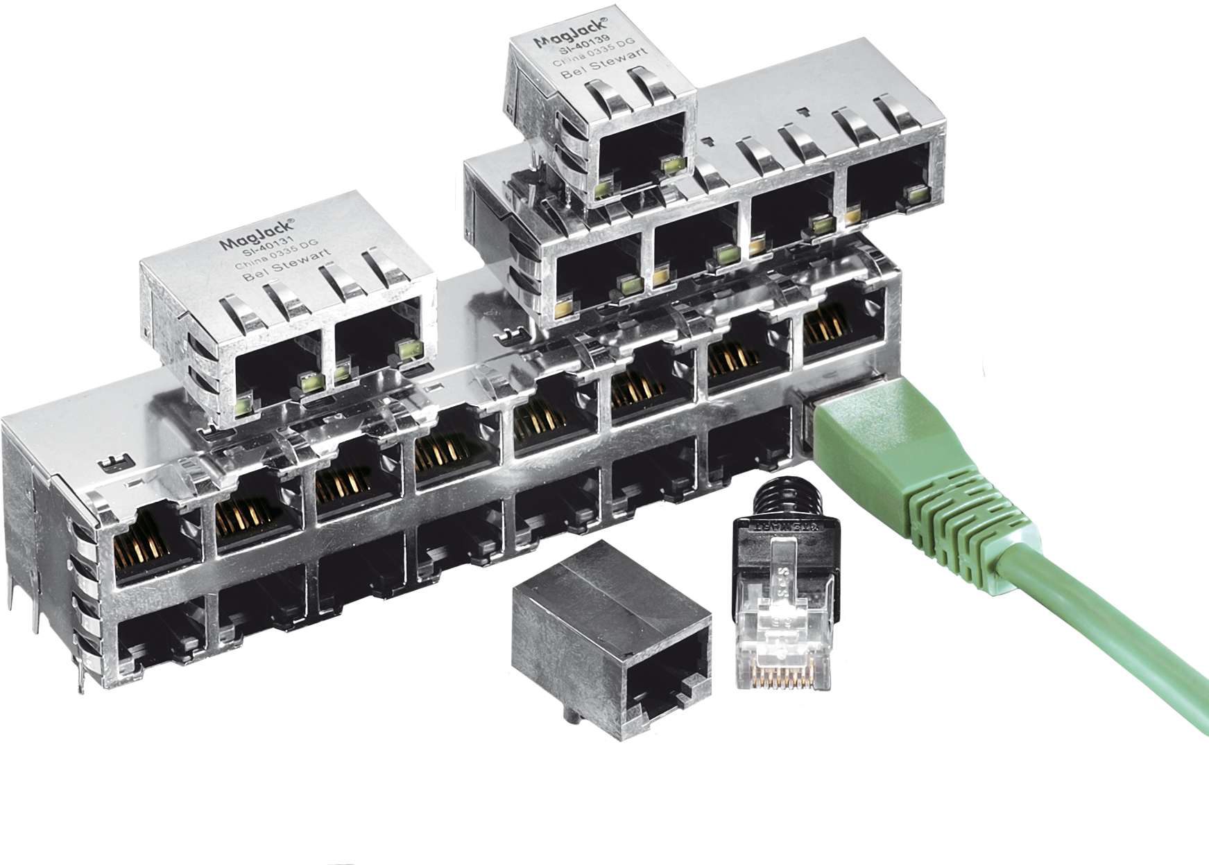 Bel Stewart Magjack Integrated Connector Modules Eve Gmbh Rj45 Cat 6 Modular Plug The Module Icm Product Line Is Fuses Premier Family Of Products For Ethernet Networking Applications