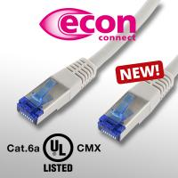 New to our range - econ connect patch cable Cat.6a UL-Listed CMX