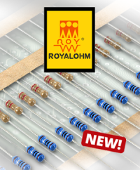 New to our range: Carbon and metal film resistors from ROYALOHM