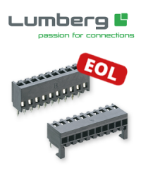 Last-Time-Buy: Discontinuation of the Lumberg series 2,5 MB and 2,5 MBPH