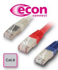 For demanding networks: The Cat.6 premium patch cables from econ connect