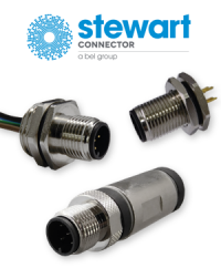 Stewart Connector now also offers M12 connectors
