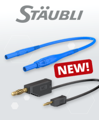 New to our range: Highly flexible test leads from Stäubli