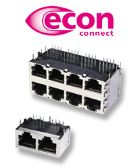 The much better connection: Multiport RJ45 jacks from econ connect