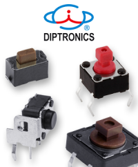 Switching in the smallest of spaces with PCB pushbuttons from DIPTRONICS